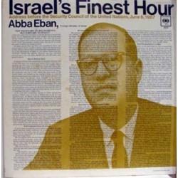 Eban Abba  – Israel's Finest Hour |1967     Columbia – XX3