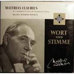 """Mathias Wieman – Mathias Claudius - Aus """"Sämtlichen Werken Des Wandsbecker Boten"""" PLB 6130"""