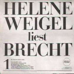 Weigel Helene/ Bertolt Brecht – Helene Weigel Liest Brecht |1971     LITERA – 8 60 047