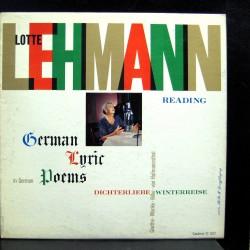 Lehmann Lotte  -  Reading german lyric poems 1956   CAEDMON - TC 1072