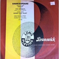 Gielgud ‎John – Shakespeare - Speeches From Hamlet And Five Sonnets / Scenes From Romeo And Juliet| Brunswick ‎– LAT 8015