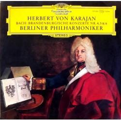 Bach Johann Sebastian - Herbert Von Karajan  – Brandenburgische Konzerte Nr. 4, 5 & 6 |1966     DG –139 006