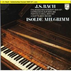 Bach J.S.- Italian Concerto, Capriccio, Partita, 4 Dets-Harpsichord: Ahlgrimm Isolde|1976      Philips 6566028