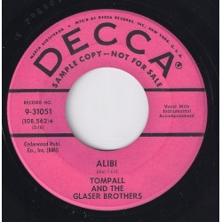 Glaser Tompall & The Glaser Brothers ‎– Alibi |1960     Decca ‎– 0-31051 -Single-Promo