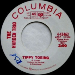 Harden Trio ‎The – Tippy Toeing|1966    Columbia ‎– 4-43463-Promo-Single