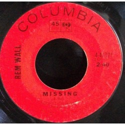 Rem Wall ‎– Missing|Columbia ‎– 4-43371-Single-Promo-white Label