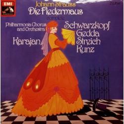 Strauss  Johann -Die Fledermaus- Philharmonia Orchestra-Karajan, Schwarzkopf.. –   |1955    EMI 1C 149-00427/28