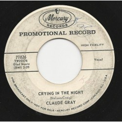 Gray Claude – My Ears Should Burn|1958     Mercury ‎– 71826-Promo-Single