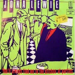 Lewie Jona – You'll Always Find Me In The Kitchen At Parties 1980 Stiff Records – 6.12 751-Single