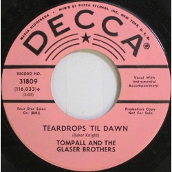 Tompall and the Glaser Brothers ‎– Teardrops 'til dawn|1964 Promo-Single