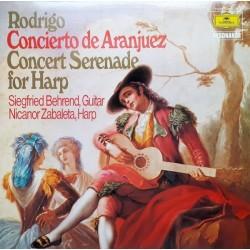 Rodrigo-Siegfried Behrend – Concierto De Aranjuez / Concert Serenade For Harp|1975     Deutsche Grammophon – 2535 170