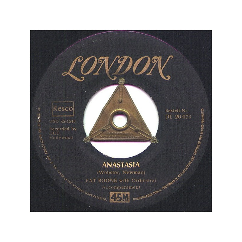 Boone Pat – Anastasia|1956 London Records – DL 20 073-Single