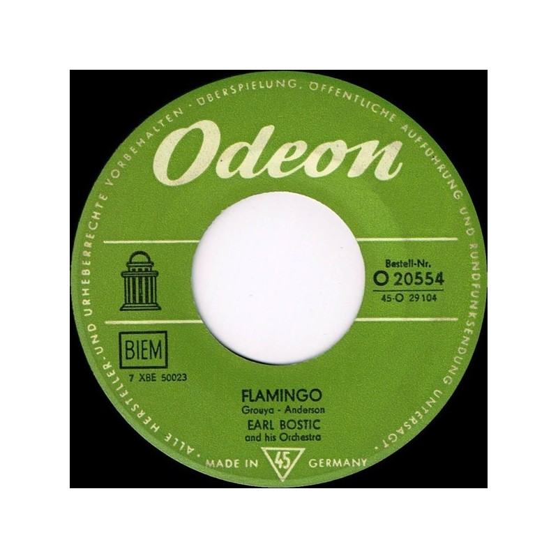 Bostic Earl  and his Orchestra ‎– Flamingo| Odeon ‎– O 20554-Single