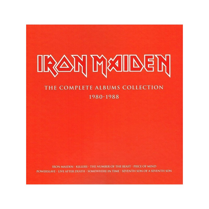 Iron Maiden ‎– The Complete Albums Collection 1980-1988|2014   Parlophone ‎– 2564622290-3LP-Box