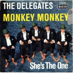 Delegates The – Monkey Monkey / She's The One|1965      Decca ‎– D 19 759-Single