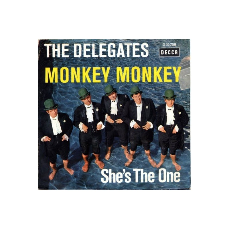 Delegates The – Monkey Monkey / She's The One|1965      Decca – D 19 759-Single
