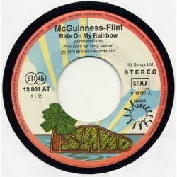 McGuinness-Flint ‎– Ride On My Rainbow|1973    Bronze ‎– 13 081 AT-Single