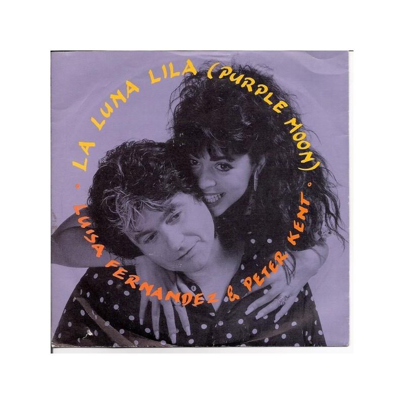 Fernandez Luisa & Peter Kent – La Luna Lila (Purple Moon) 1990    Bellaphon – 100·31·058-Single