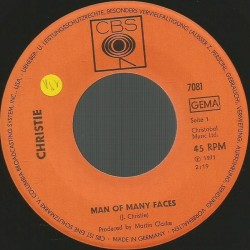 Christie – Man Of Many Faces / Country Sam|1971    CBS – 7081-Single