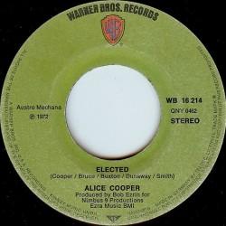 Cooper  Alice– Elected!  1972    Warner Bros. Records – WB 16 214-Single