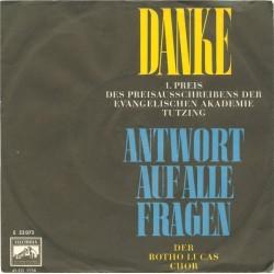 Luca Botho Chor Der– Danke / Antwort Auf Alle Fragen|1962     Electrola – E 22 073-Single
