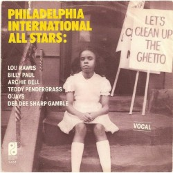 Philadelphia International All Stars / MFSB ‎– Let's Clean Up The Ghetto|1977    PIR 5451-Single