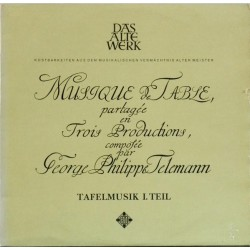 Telemann Georg Philipp – Tafelmusik Teil I  - Frans Brüggen (Banquet-Music ∙|1964    Telefunken – SAWT 9449/50-A