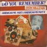McLean Don – American Pie - Part I / American Pie - Part II|1981     Liberty – 1A 006-93112-Single