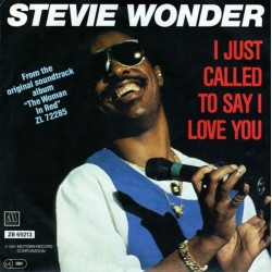 Wonder Stevie – I Just Called To Say I Love You 1984      Motown – ZB 69213-Single