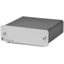 Pro-Ject Phono Box USB MM/MC Phono Vorverstärker mit Line & USB Out in Silber