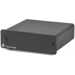 Pro-Ject Phono Box USB MM/MC Phono Vorverstärker mit Line & USB Out in Schwarz