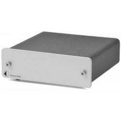 Pro-Ject Phono Box MM/MC Phono Vorverstärker mit Hochpegelausgang in Silber