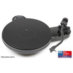 Plattenspieler in Schwarz  inkl. Ortofon 2M Silver