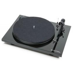 Pro-Ject Essential II DIGITAL- Plattenspieler mit MM-Vorstufe + OPTISCHEM Digitalausgang in Schwarz