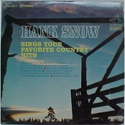 Snow ‎Hank – Sings Your Favorite Country Hits|1965 RCA Victor LSP-3317