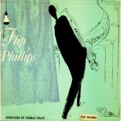 "Phillips ‎Flip – Flip Phillips Quartet|1953 Clef Records MG C-105- 10"" Record"