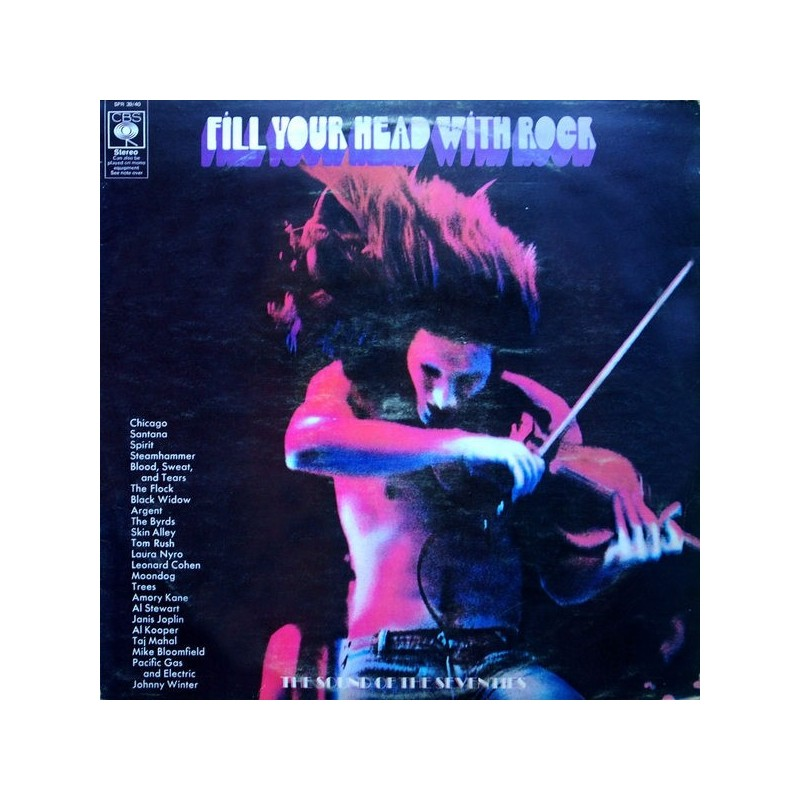 Various ‎– Fill Your Head With Rock|1970 CBS SPR 39/40