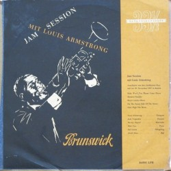 "Armstrong Louis – Jam Session|1952 Brunswick – 86001 LPB 10"", Mono"