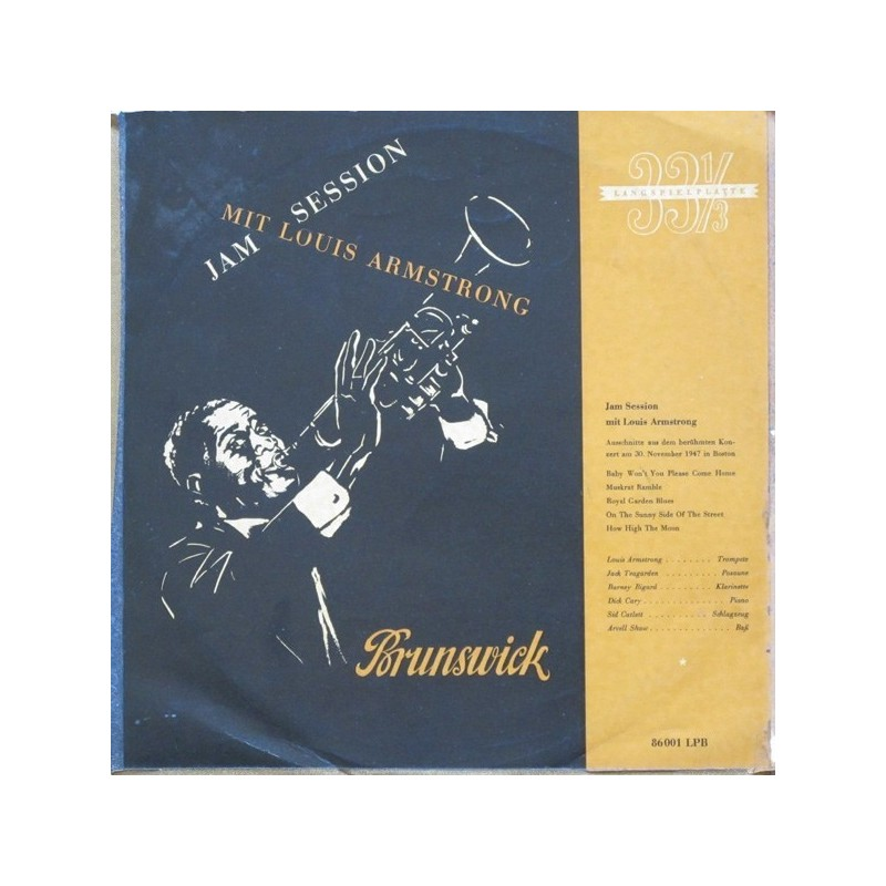 "Armstrong ‎Louis – Jam Session|1952  Brunswick ‎– 86001 LPB 10"", Mono"