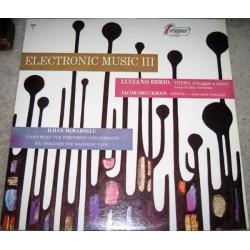 Berio Luciano/ Jacob Druckman / Ilhan Mimaroglu – Electronic Music III | 1967 Turnabout TV 34177S