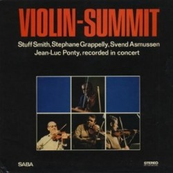 Smith Stuff / Stephane Grapelly  / Svend Asmussen / Jean-Luc Ponty ‎– Violin-Summit|1966    SABA ‎– SB 15 099 ST