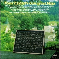 Hall ‎Tom T. –  Greatest Hits|1972   Mercury ‎– SR 61369