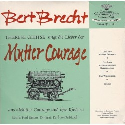 Giehse  Therese-Singt Die Lieder Der Mutter Courage-Bert Brecht-Single
