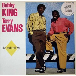 King Bobby & Terry Evans ‎– Live And Let Live!|1988 Marat Records ‎– Marat CM 10