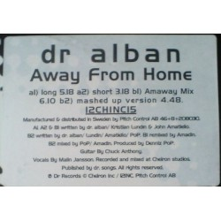 Dr. Alban ‎– Away From Home|1994 Cheir –  12CHINC15 Maxi Single