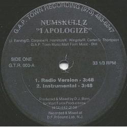 Numskullz – I Apologize|G.A.P. Town Recording – G.T.R. 003-Maxisingle